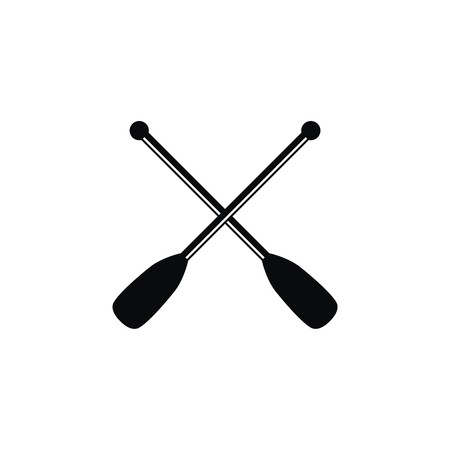 Paddle icon logo vector Çizim