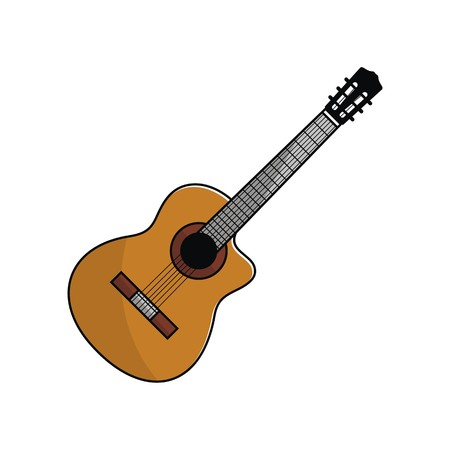 Acoustic guitar illustration vector Imagens - 68112831