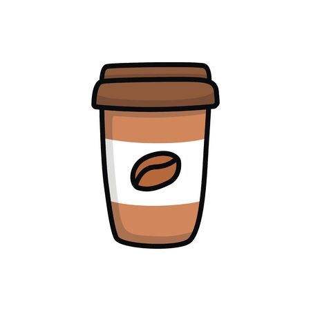 A cup of coffee illustration vector