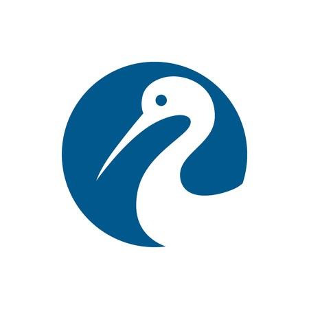 blue heron: Heron logo vector