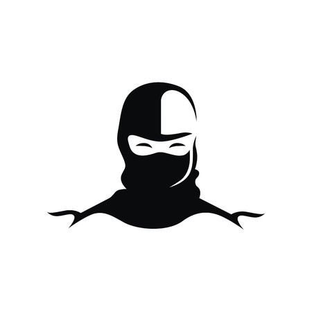 Ninja logo vector Illustration