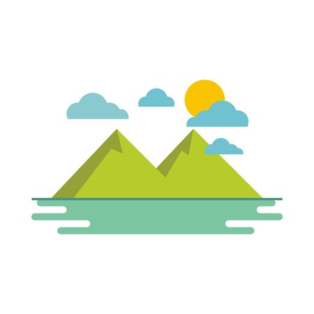 Mountain illustration vector Ilustração