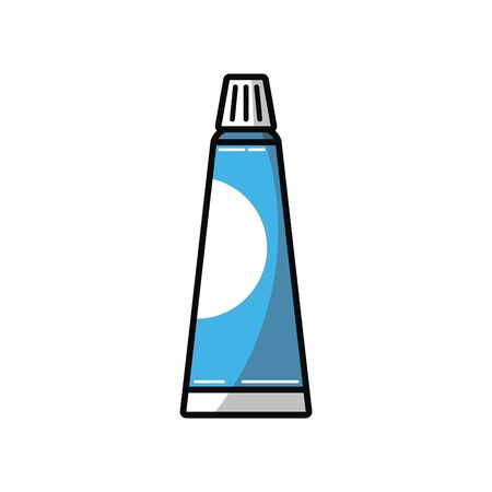 Tooth paste illustration vector