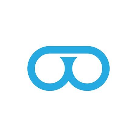 OO initial logo  イラスト・ベクター素材