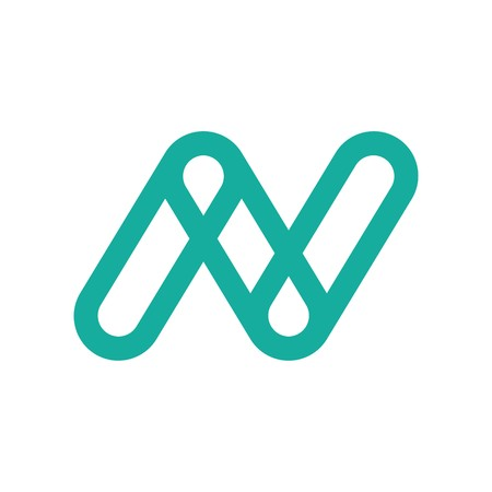 Initial letter N in green color abstract design for logo type Illustration