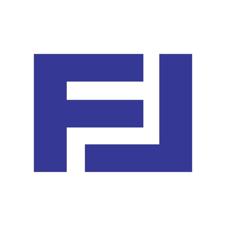 FL initial logo in flat and isolated on white background