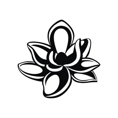 Magnolia illustration vector  イラスト・ベクター素材
