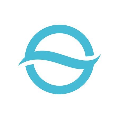 OS or SO emblem icon Vector Illustration