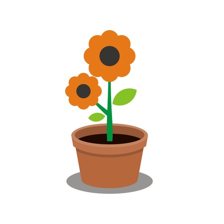 Flower icon on white background, vector illustration. 일러스트