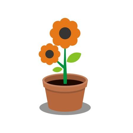 Flower icon on white background, vector illustration. Stock Illustratie