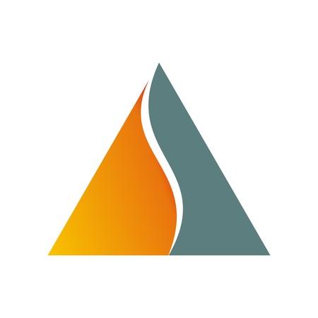 Triangle design vector