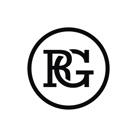 RG initial logo 向量圖像