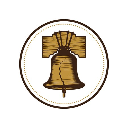 Liberty bell illustration vector