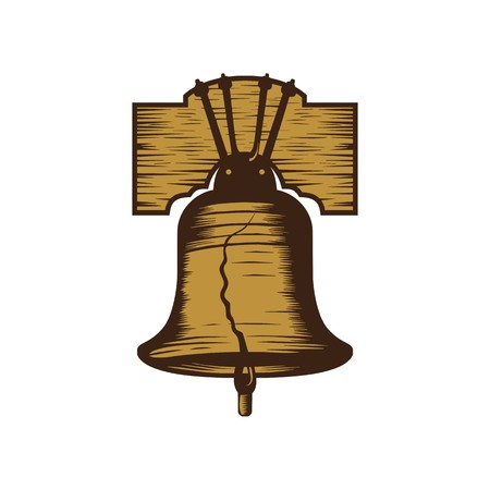 Liberty bell illustration vector