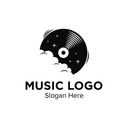 Music logo design illustration good for logo on a plain background. Standard-Bild - 90847072