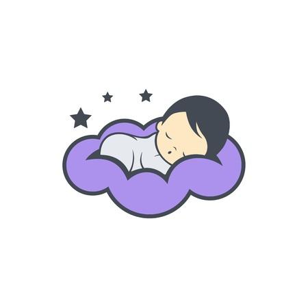 Sleep baby logo design