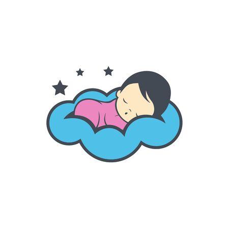 Sleeping baby icon design Çizim