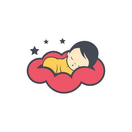 Sleep baby icon design