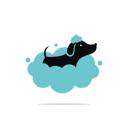 Dog wash logo design