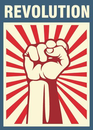 Revolution poster, fist hand