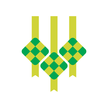 Ketupat vector, indonesian traditional food, usually for aidil fitri celebration