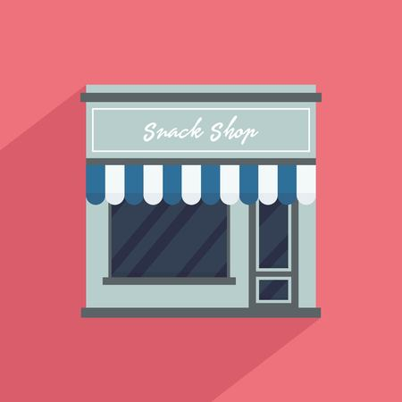 Storefront vector illustration in flat style