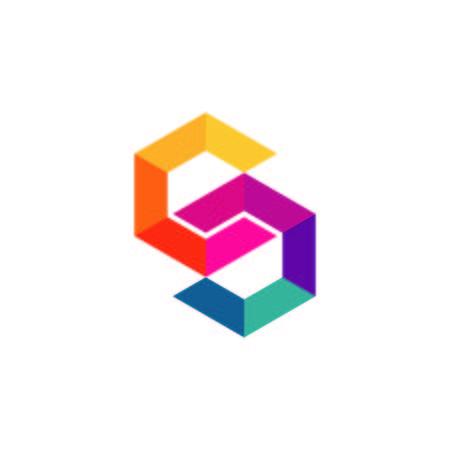 Square logo design  イラスト・ベクター素材
