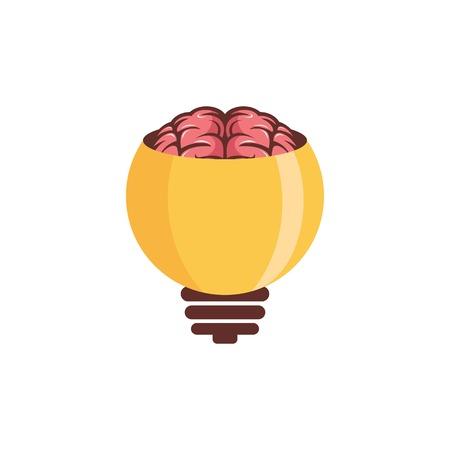 Brain bulb logo design