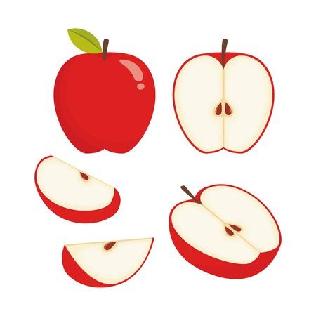 Apple vector illustrartion  イラスト・ベクター素材