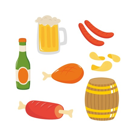 Barbeque party food and drink vector illustration  イラスト・ベクター素材