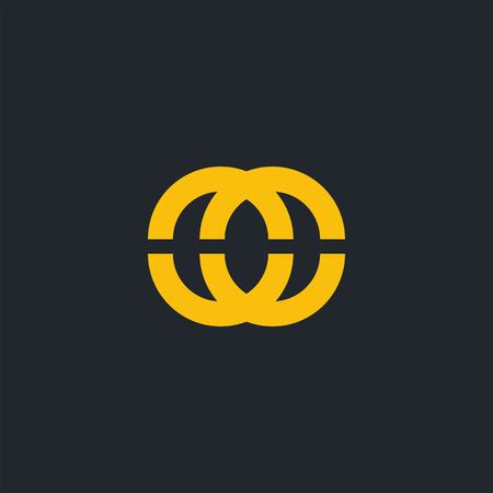 Simple O and O letter logo design