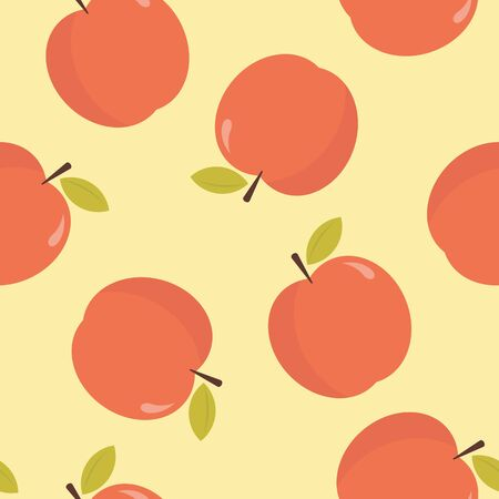Red apple pattern background