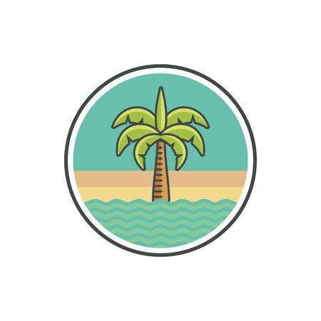 Coconut tree logo icon