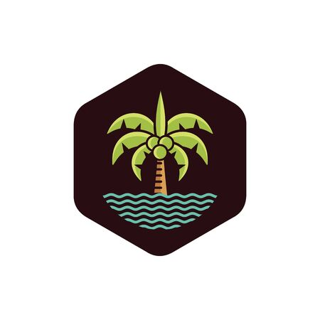 Coconut tree logo icon