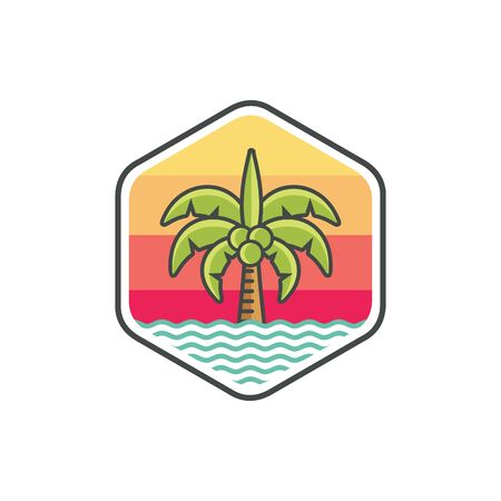 Coconut tree logo icon Фото со стока - 137545752