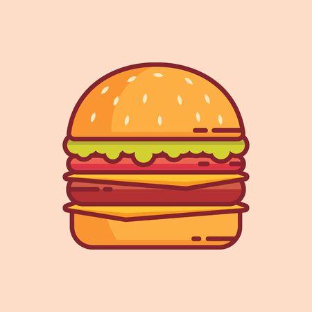 Burger illustration 写真素材 - 132368120