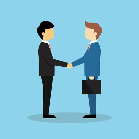 Business partner shaking hands vector Иллюстрация
