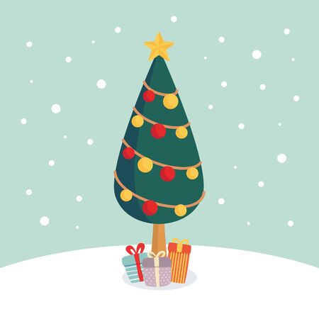 Christmas tree illustration 写真素材 - 132368629