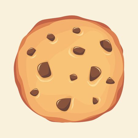 Chocolate chips cookie  illustration 写真素材 - 132367787