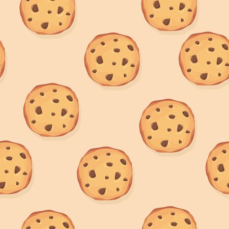 Seamless pattern with cookies  イラスト・ベクター素材