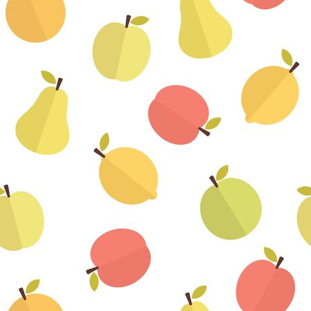 Lemon appel and pear pattern background 写真素材 - 130848555