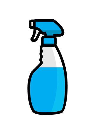Glass cleaner vector illustration  イラスト・ベクター素材
