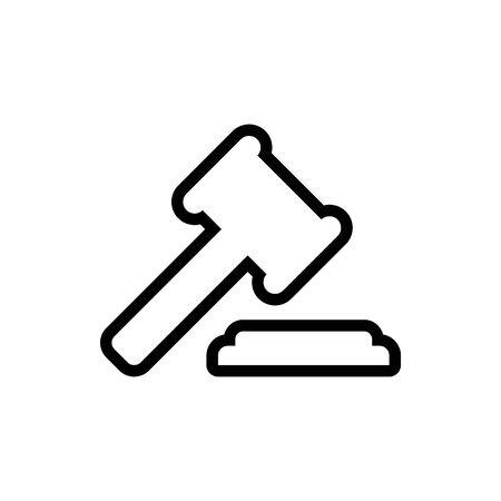 A judges hammer vector illustration