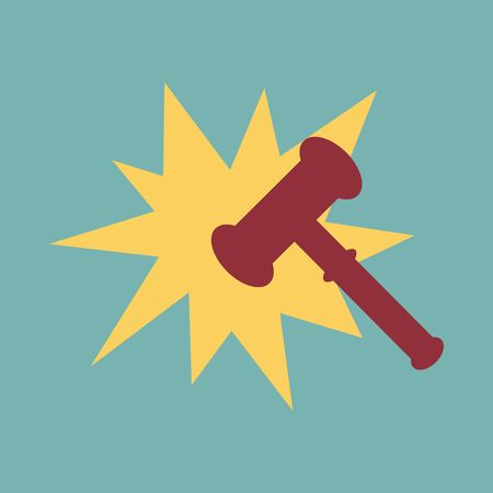 Hammer judge vector illustration  イラスト・ベクター素材