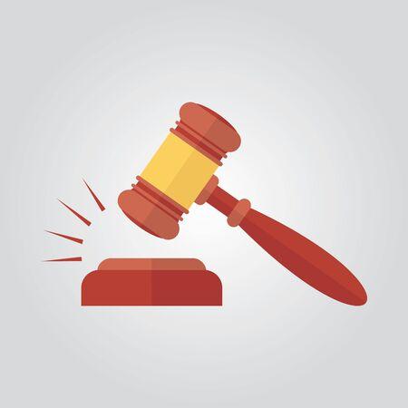Hammer judge vector illustration 写真素材 - 129782388