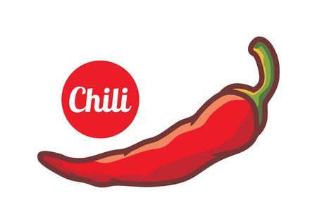 Red chili vector illustration Stockfoto - 129164833