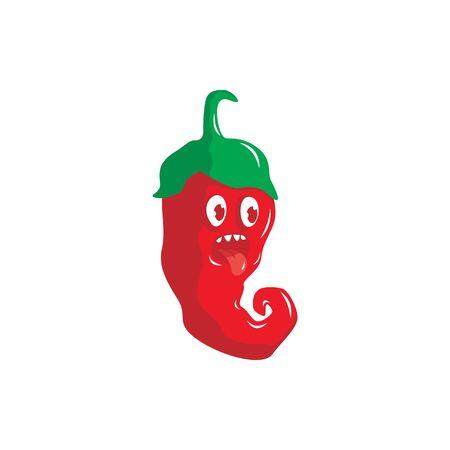 Cute chili character vector illustration 写真素材 - 129164878