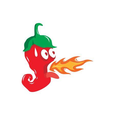 Cute chili character vector illustration  イラスト・ベクター素材