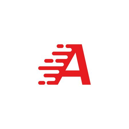 A letter fast logo