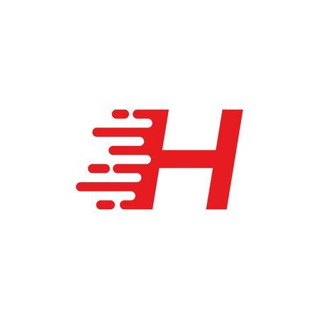 H letter fast logo